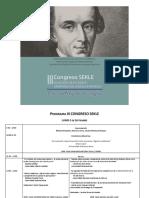 Programa III Congreso Sekle (22.07.2016)