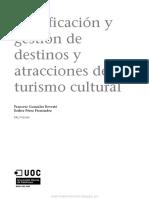 Planificación y Gestión de Destinos y Atracciones de Turismo Cultural