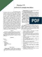Fisica Practica Conservación de la energía mecánica