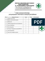 7.1.2 Ep 2 Hasil Evaluasi Terhadap Penyampaian Informasi Ditempat Pendaftaran
