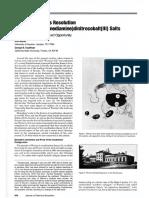 The Spontaneous Resolution of Cis-bis(Ethylenendiamine)Dinitrocobalt(III)