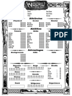 Werewolf TheWildWest4-Page Editable
