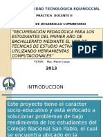Informe Del Plan de Recuperacion Pedagogica