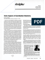 Some Aspects of Coordination Chemistry. Charles Mickey