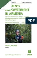 Women's Empowerment in Armenia: Impact evaluation of the women's economic empowerment project in rural communities in Vayots Dzor region