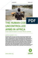 The Human Cost of Uncontrolled Arms in Africa: Cross-national research on seven African countries