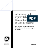 underrepresentation in gifted programs