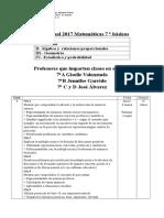 Plan Anual 2017 Matematicas Séptimo
