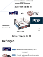 Cobit vs Itil
