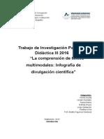 Investigación. Estudiantes Didáctica 2016 - Comprension Multimodal Infografía