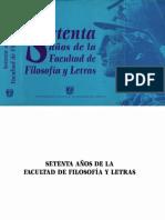 70 años de la Facultad de Filosofía y Letras, UNAM