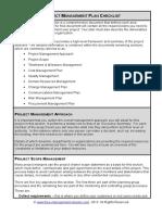 Fme Project Management Plan Checklist