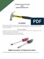 Common Hand Tools