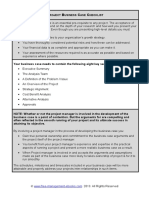 Fme Project Business Case Checklist