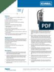 CLEANGUARD Clean Agent Extinguishers Data
