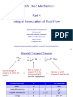 ME 305 Part 4 Integral Formulation of Fluid Flow