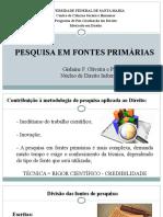Oficina - fontes primárias 2015