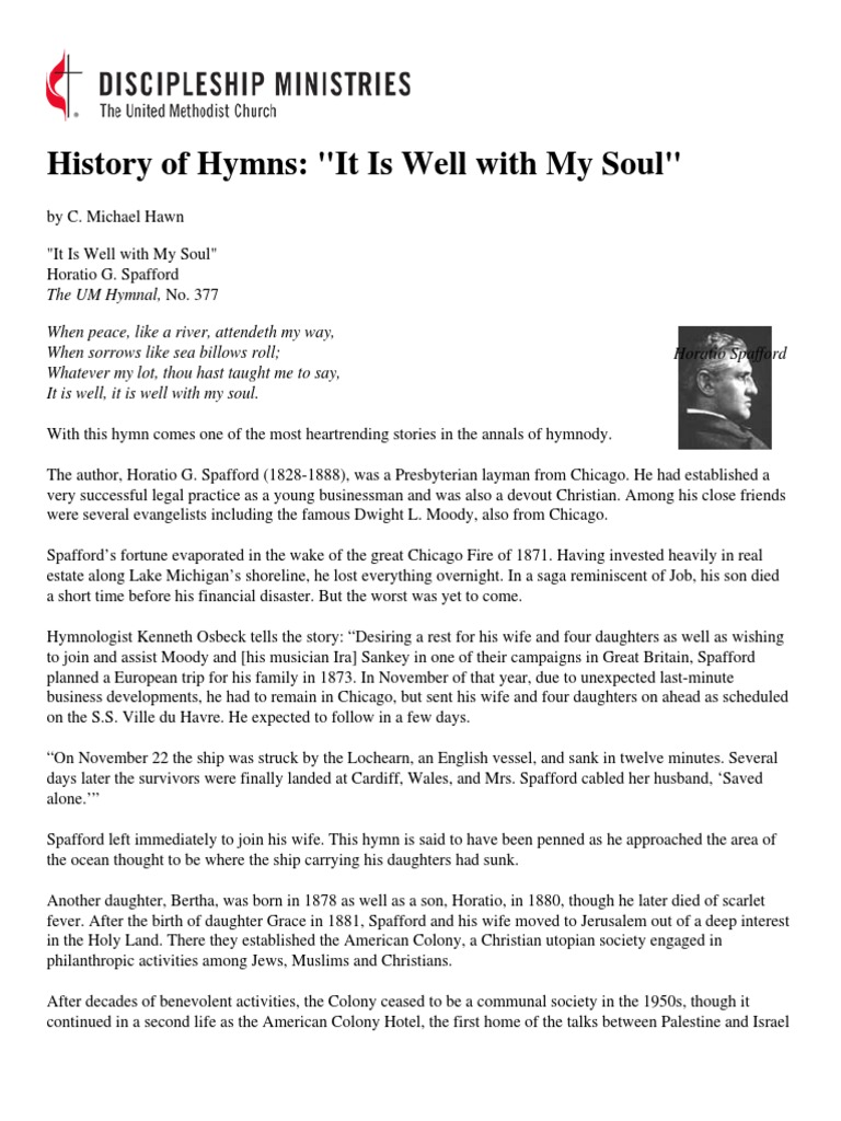 History of Hymns - 'It is Well With My Soul' | Protestant | Religion