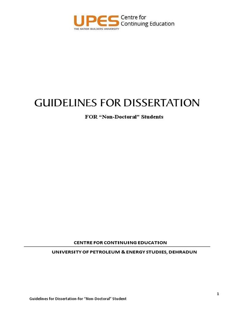 Non dissertation phd programs