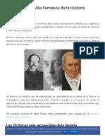 Los 30 Físicos Más Famosos de La Historia - Lifeder
