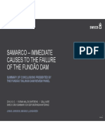 7 Jonsson Och Ljunggren Sweco Samarco Immediate Causes to the Failure of the Fundo Dam