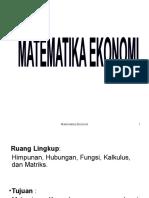 matematika ekonomi (fungsi)