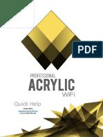 Acrylic WiFi Professional Ayuda Spanish 2016