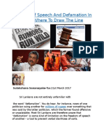 Freedom Of Speech And Defamation In Sri Lanka.docx