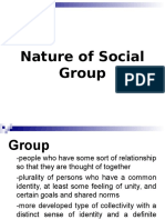 Nature of Social Groups