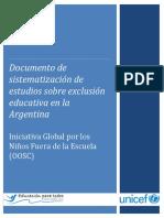 Sistematizacion de Estudios Sobre Exclusion Educativa en Arg (OOSC)