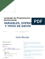 1 - Variables, Tipos y Expresiones