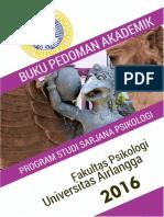 Buku Pedoman Pendidikan Sarjana Psikologi UNAIR Kurikulum 2014