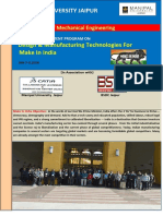 FDP on Design & Manufacturing Technologies for Make in India