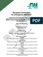 Medicina d'emergenza e Medico d'Emergenza CEE  Emergency Medicine Curruculum Final Draft