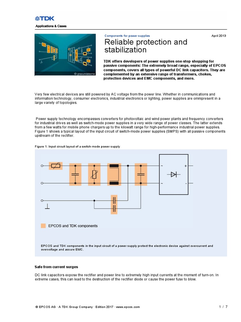 Power Suppliespdf Capacitor Supply Switchmode Psu Protection Circuit