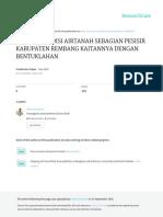 Variasi Kondisi Airtanah Sebagian Pesisir Kabupaten Rembang