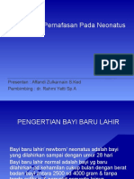 Mekanisme Pernafasan Pada Neonatus