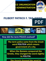 REVIEW IN POLICE ORGANIZATION AND ADMINISTRATION-PROF. FILIBERT TAD-AWAN
