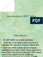 ISPF Tables
