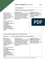 lesson plan central focus  1