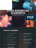 FOUR ESSENTIAL ELEMENTS for digital maturity