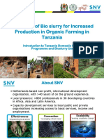 Banzi Bioslurry and Organic Farming Snv