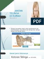Perawatan Telinga Di Rumah