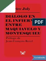 Dialogo en El Infierno Entre Maquiavelo y Montesquieu - Maurice Joly