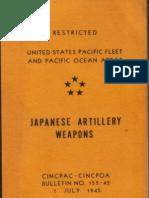 Japanese Artillery Weapons Bulletin No. 152-45