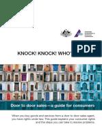 Door to Door Sales - A Guide for Consumers B5 Booklet
