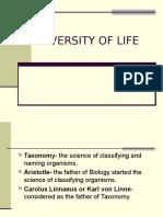 Diversity of Life(1)