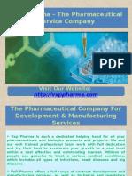 IND Enabling At VxP Pharma Ensuring All Dosage Forms