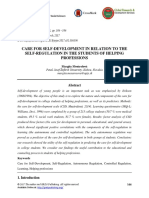 Care for Self-Development in Relation to the Self-regulation in the Students of Helping Professions