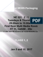 Advanced MEMS Packaging 2017 (Class 1)
